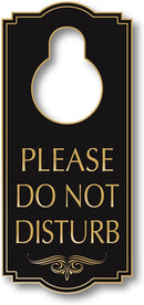 "My Sign Center Do Not Disturb Door Hanger Sign, Indoor and Outdoor Use, 4"" X 8"", A87-07"