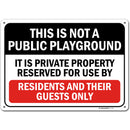 "Private Property Playground for Residents Only Sign, 10"" x 14"" Industrial Grade Aluminum, Easy Mounting, Rust-Free/Fade Resistance, Indoor/Outdoor, USA Made by MY SIGN CENTER"