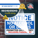 "Notice Property Rules Sign No Alcohol Or Drugs Permitted, Made Out of .040 Rust-Free Aluminum, Indoor/Outdoor Use, UV Protected and Fade-Resistant, 10"" x 14"", by My Sign Center"