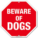 "Beware of Dog Sign, Octagon Shaped, Made out of .040 Rust-Free Aluminum, Indoor/Outdoor Use, UV Protected and Fade-Resistant, 11"" x 11"", By My Sign Center"