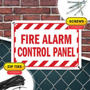 "Fire Alarm Control Panel Sign, Made Out of .040 Rust-Free Aluminum, Indoor/Outdoor Use, UV Protected and Fade-Resistant, 7"" x 10"", by My Sign Center"