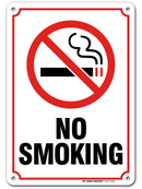 "No Smoking Sign, Made out of .040 Rust-Free Aluminum, Indoor/Outdoor Use, UV Protected and Fade-Resistant, 7"" x 10"", By My Sign Center"