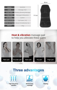 Electric Chair Cushion Vibrator Back Massager - Covlac