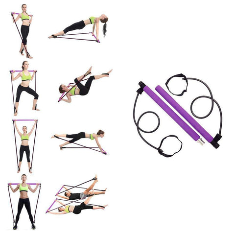 Image of Pilates Stick Bar With Resistance Bands - Covlac