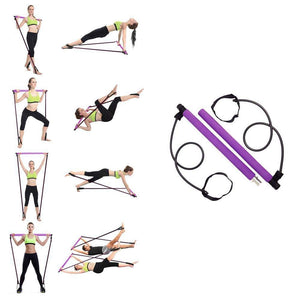 Pilates Stick Bar With Resistance Bands - Covlac
