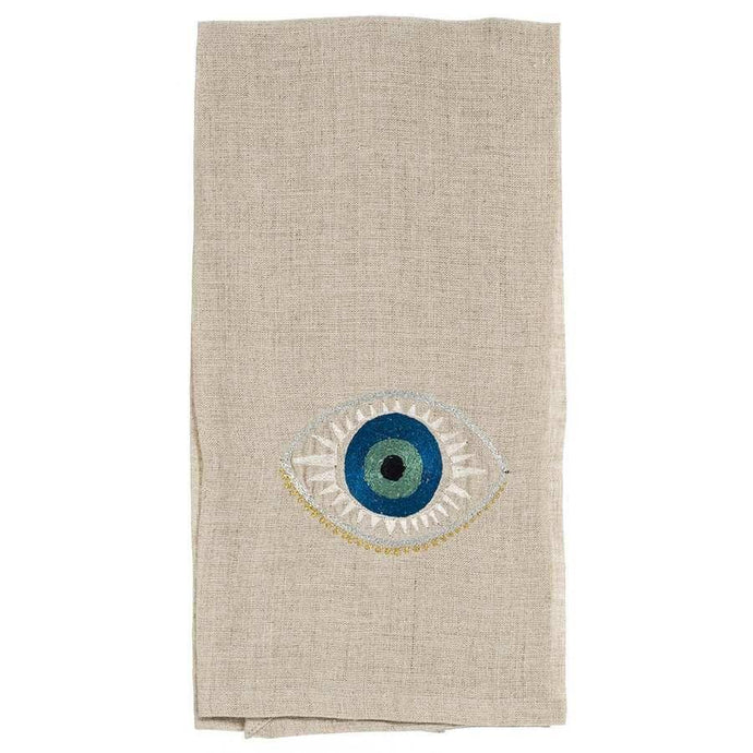 Coral and Tusk | Evil Eye Tea Towel - Blue New York