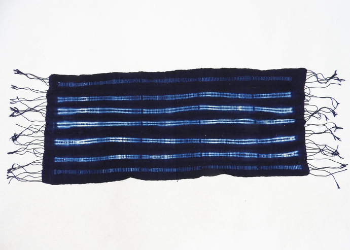 Burkina Faso | Table Runner | Indigo Stripe - Blue New York