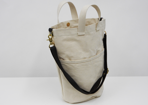 Canvas Bucket Bag - Blue New York