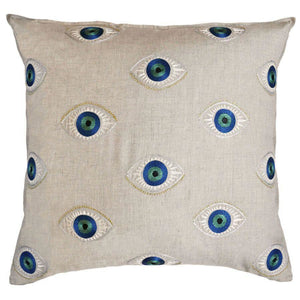 Coral and Tusk | Evil Eye | Pillow - Blue New York