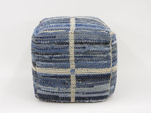 Load image into Gallery viewer, Strauss Pouf - Blue New York