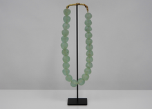 Load image into Gallery viewer, Large Recycled Glass Beads - Blue New York