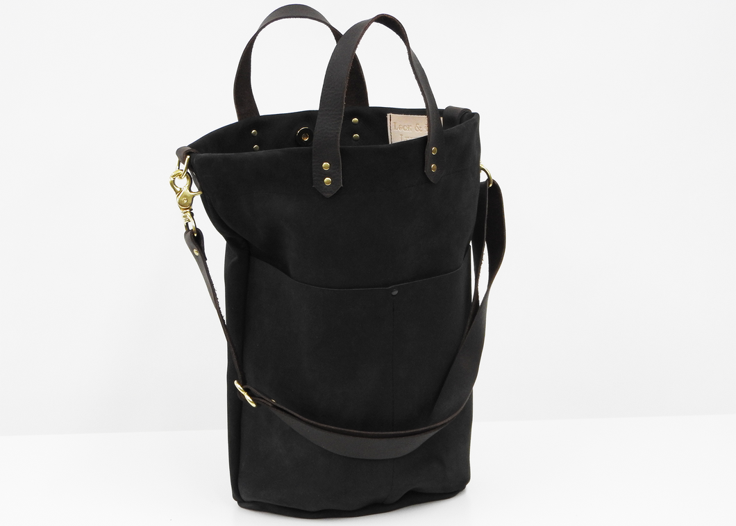 Nubuck Bucket Bag - Blue New York