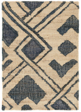 Load image into Gallery viewer, Zinnia Blue Woven Jute Rug 3x5