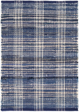 Load image into Gallery viewer, Denim Plaid Woven Cotton Rug 8x10