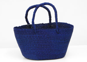 Petite Market Shopper Bag | Ghana - Blue New York