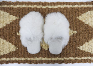 Alpaca Slippers - Blue New York