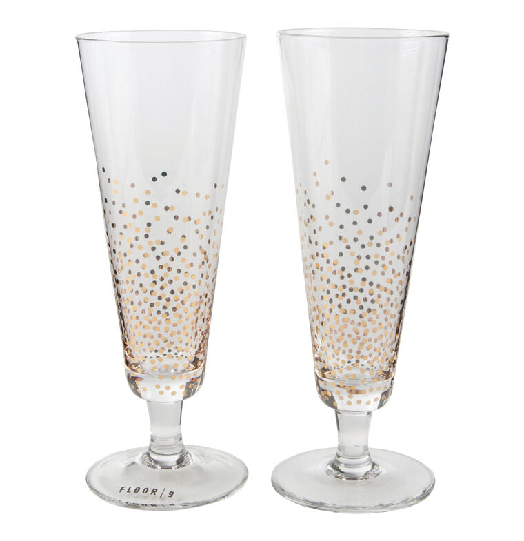 Champagne Glass 2/set - Blue New York