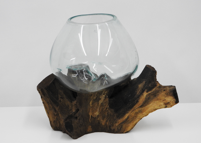 Terrarium | Glass & Wood - Blue New York
