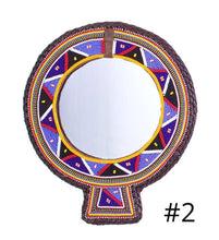 Load image into Gallery viewer, UNIQUE HAND-BEADED MAASAI MIRRORS - 2 colors
