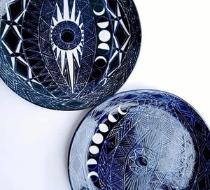 Spirit Eye Round Plate Blue