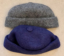 Load image into Gallery viewer, Boiled wool beanie w cap