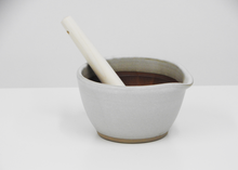 Load image into Gallery viewer, Motoshige Mortar Bowl | White - Blue New York
