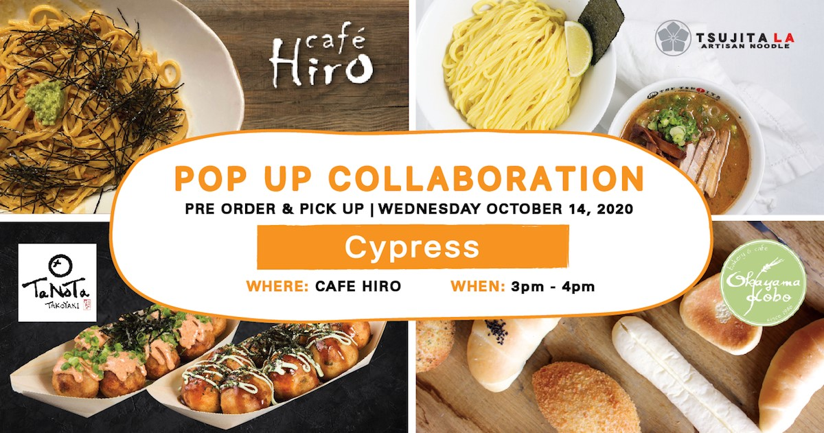 Pop-Up Event: Cafe Hiro | Wednesday, October 14, 2020 | 3:00pm - 4:00pm