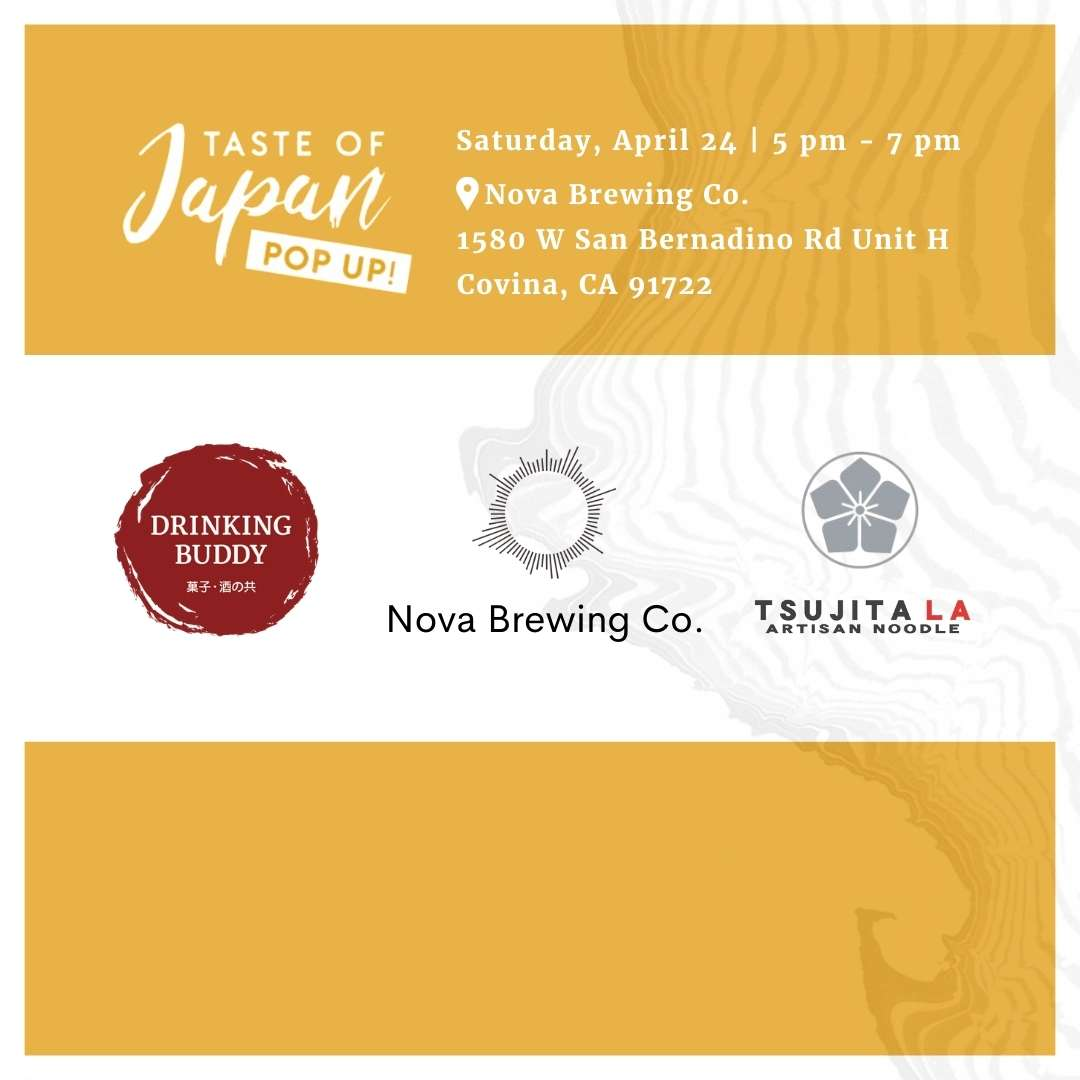 Pop-Up Event: Nova Brewing Co. Covina, CA | Saturday, April 24, 2021 | 5:00pm - 7:00pm