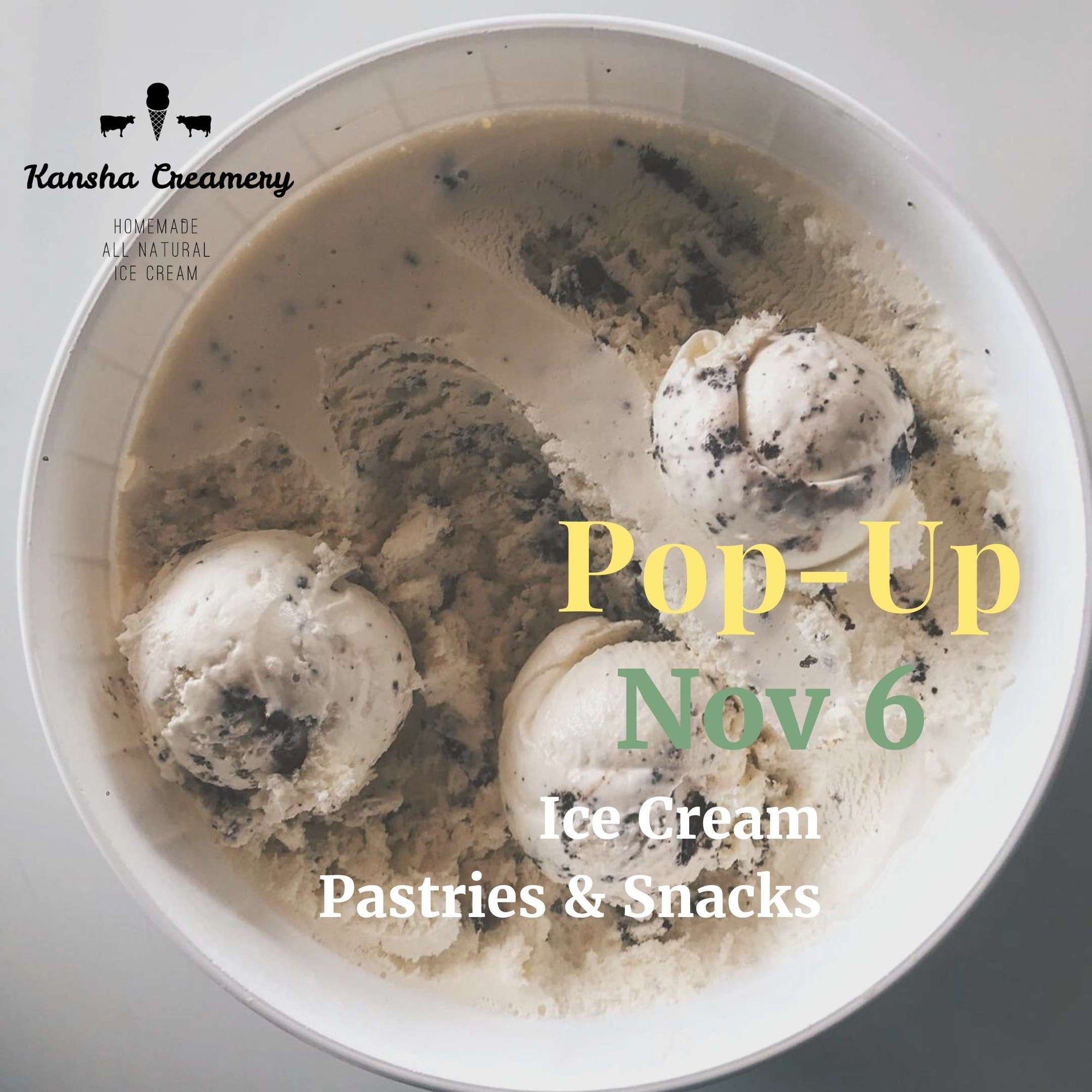 Pop-Up Event: Kansha Creamery | Friday, November 6, 2020 | 3:00pm - 4:00pm