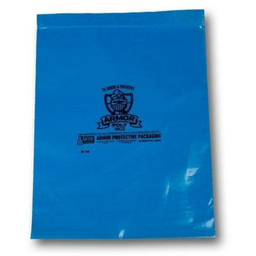 ARMOR Poly VCI Zip Top Bags - 12