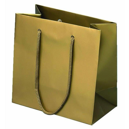 Baroque Matte Rope Handle Euro-Tote Shopping Bags - 6.5 x 3.5 x 6.5 - Plastic Bag Partners-Retail Bags - Euro-Tote
