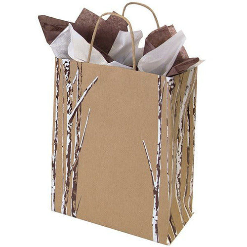 Birch Bliss Paper Shopping Bag with Twisted Paper Handle - 8.00 x 4.75 x 10.25 - Plastic Bag Partners-Retail Bags - Print Paper