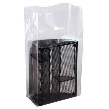 Clear Gusseted Bags on a Roll. 10 x 8 x 20 x 2 mil - Plastic Bag Partners-Gusseted Poly Bags - Rolls