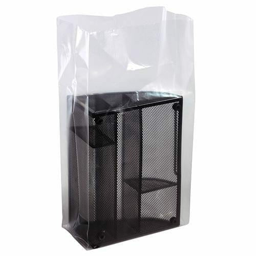 Clear Gusseted Poly Bags. 10 x 6 x 20 x 2 mil - Plastic Bag Partners-Gusseted Poly Bags