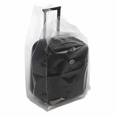 Clear Gusseted Poly Bags. 18 x 14 x 36 x 6 mil - Plastic Bag Partners-Gusseted Poly Bags
