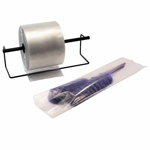 "Clear Poly Tubing Bags. 24"" x 1.5 mil 2400'/roll - Plastic Bag Partners-Poly Tubing - Clear"
