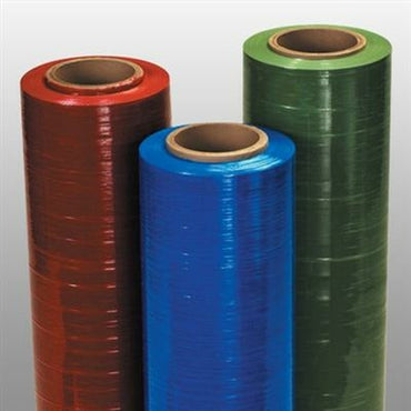 Hand Pallet Wrap Stretch Film - Red - 15 in x 1500 ft x 80 ga - Plastic Bag Partners-Stretch Film - Colored