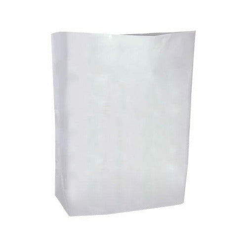 "HDPE Blend Colored Merchandise Shopping Bags - 8.5"" x 11"" - (White) - Plastic Bag Partners-Retail Bags - Die Cut Handle"