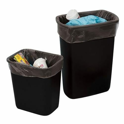 LDPE Trash Bags & Can Liners 16 x 9 x 30 x 4 mil - Black - Plastic Bag Partners-Liners - Trash Can Liners