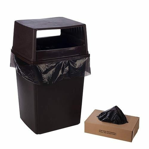 LLDPE Trash Bags & Can Liners 22 x 16 x 58 x 0.98 mil - Black - Plastic Bag Partners-Liners - Trash Can Liners