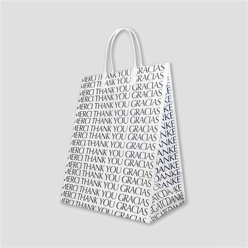 "Plastic Loop Handle Shopper (Thank You) - 7.75"" x 4"" x 9.75"" - Plastic Bag Partners-Retail Bags - Loop Handle Shopper"