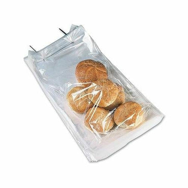 "Polypropylene Co-Ext Bottom Gusset Bags on Wicket - 8"" x 22"" + 3"" BG - Plastic Bag Partners-Polypropylene Bags - Gusseted"