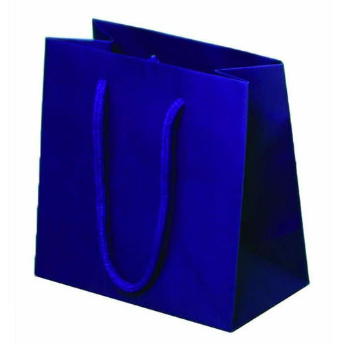 Purple Matte Rope Handle Euro-Tote Shopping Bags - 6.5 x 3.5 x 6.5 - Plastic Bag Partners-Retail Bags - Euro-Tote
