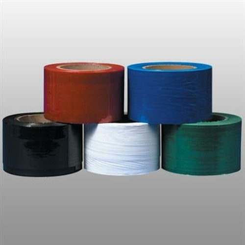 Red Narrow Banding Stretch Wrap Film - 3 in x 1000 ft x 80 ga - Plastic Bag Partners-Stretch Film - Colored