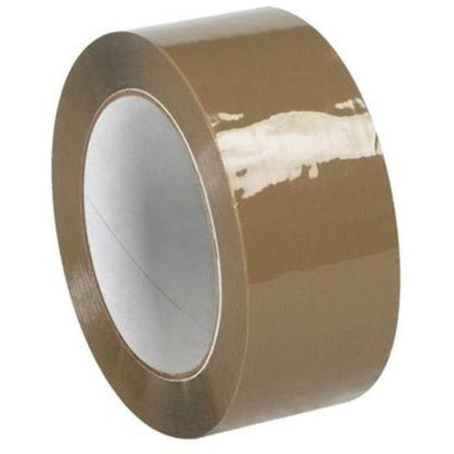 Tan Acrylic Sealing Tape 2 x 55 yds x 1.7 mil - 36/CTN - Plastic Bag Partners-Tape - Acrylic Tape