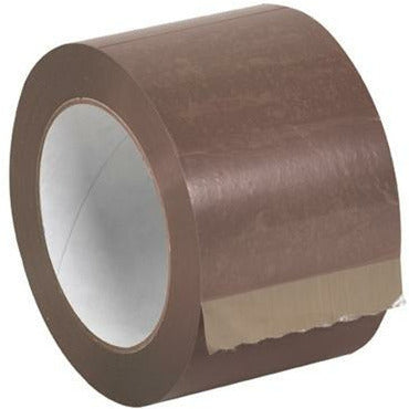 Tan Acrylic Sealing Tape 3 x 110 yds x 1.7 mil - 24/CTN - Plastic Bag Partners-Tape - Acrylic Tape