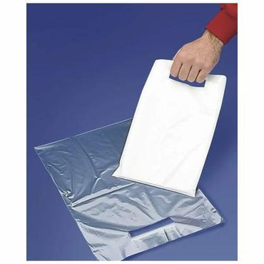 White Low Density Merchandise Bags. 12 x 15 x 2 mil - Plastic Bag Partners-Retail Bags - Merchandise