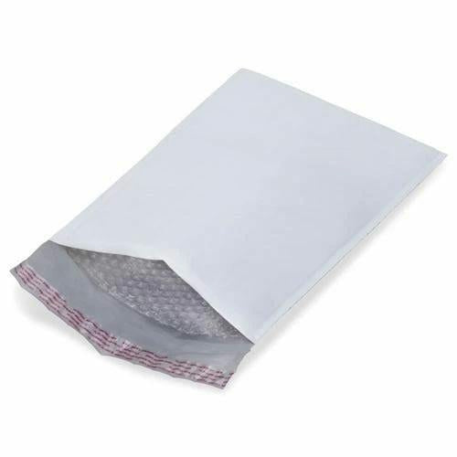 White Poly Bubble Mailer Envelopes 4 x 8 - 500/CTN #000 - Plastic Bag Partners-Mailers - White Bubble