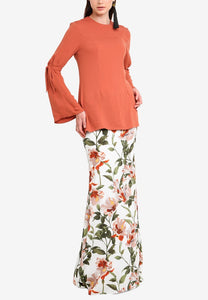 Anemone Peach Kurung set