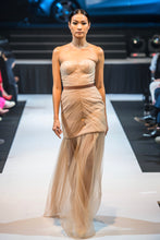 Load image into Gallery viewer, SIMONE BUSTIER GOWN IN POWDER NUDE
